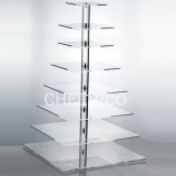 8 Tier Acrylic Square Maypole Cupcake Stand Display